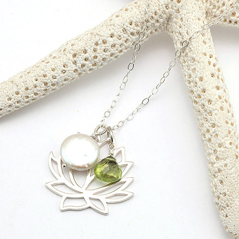 lotus position necklace