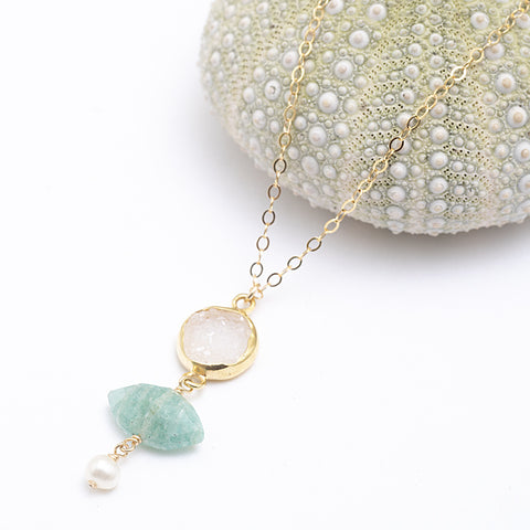 seafoam necklace
