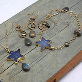 north star blue necklace