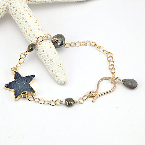 north star blue bracelet