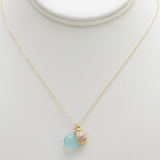 puka shell chalcedony necklace
