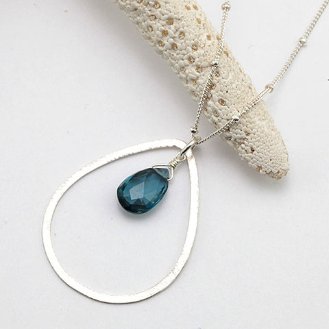 raindrop necklace