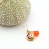 puka & carnelian necklace