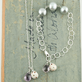 puka shell & light amethyst necklace