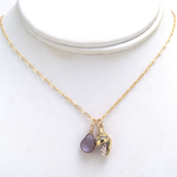 dove shell chocolate moonstone necklace