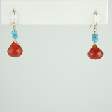 carnelian turquoise earrings