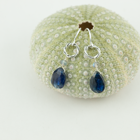 blue kyanite drops earrings