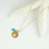 lotus disc necklace