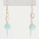 wind chime bright aqua earrings