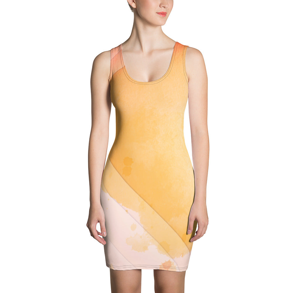 Sunburst Canvas Fitted Dress