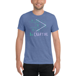 Be Creative Tic Tac Toe Men's t-shirt