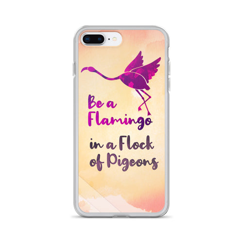 Be A Flamingo iPhone Case