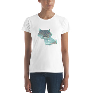 Cute Origami Cat Women's T-shirt