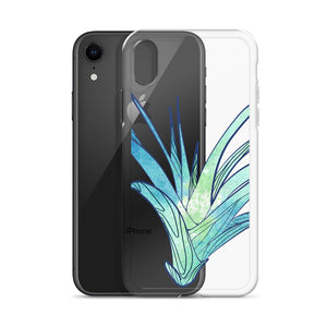 Blue Abstract Plant Design iPhone Case
