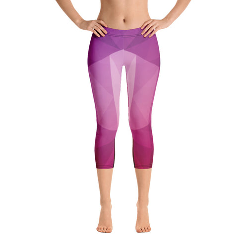 Women's Geometric  Capri Leggings