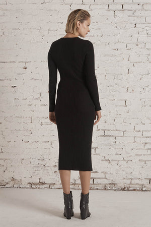 Isle of Mann Cashmere Maxi Dress Black