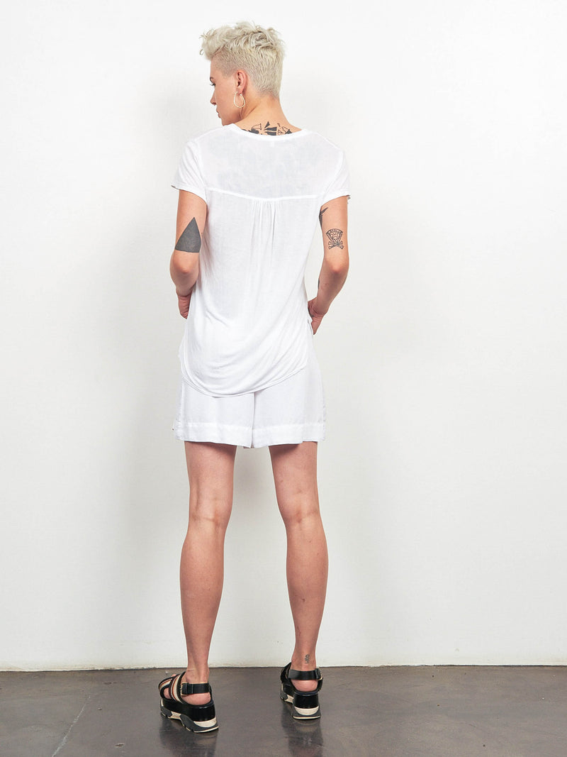 4 Directions V-Neck Tee Shirt White