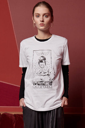 Ace of Cups Tee White