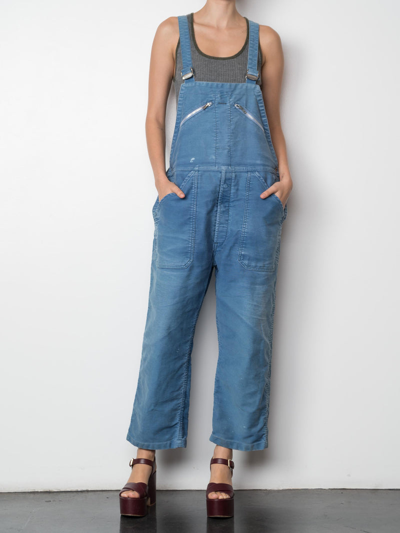 Vintage Overalls With Single Zip on Bib