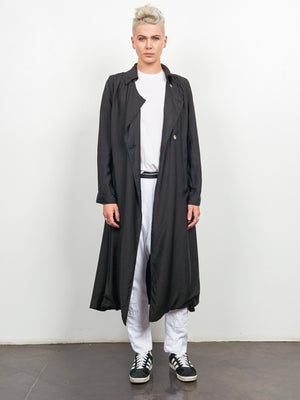 Elements Trench Coat Black