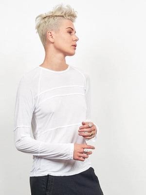 4 Directions Long Sleeve Tee Shirt White