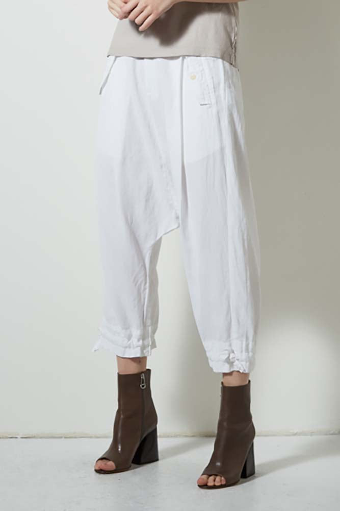 CORE DROP CROP PANTS, WHITE