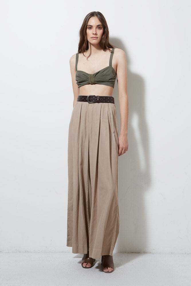 CORE WIDE LEG PANT, KHAKI