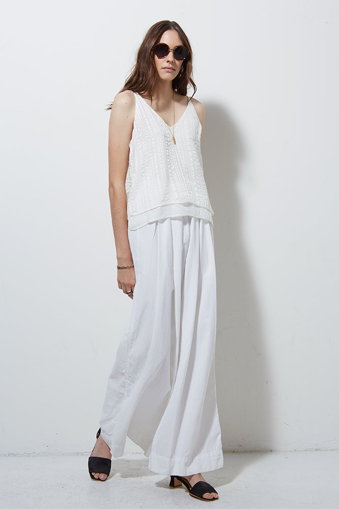 CORE WIDE LEG PANT, WHITE