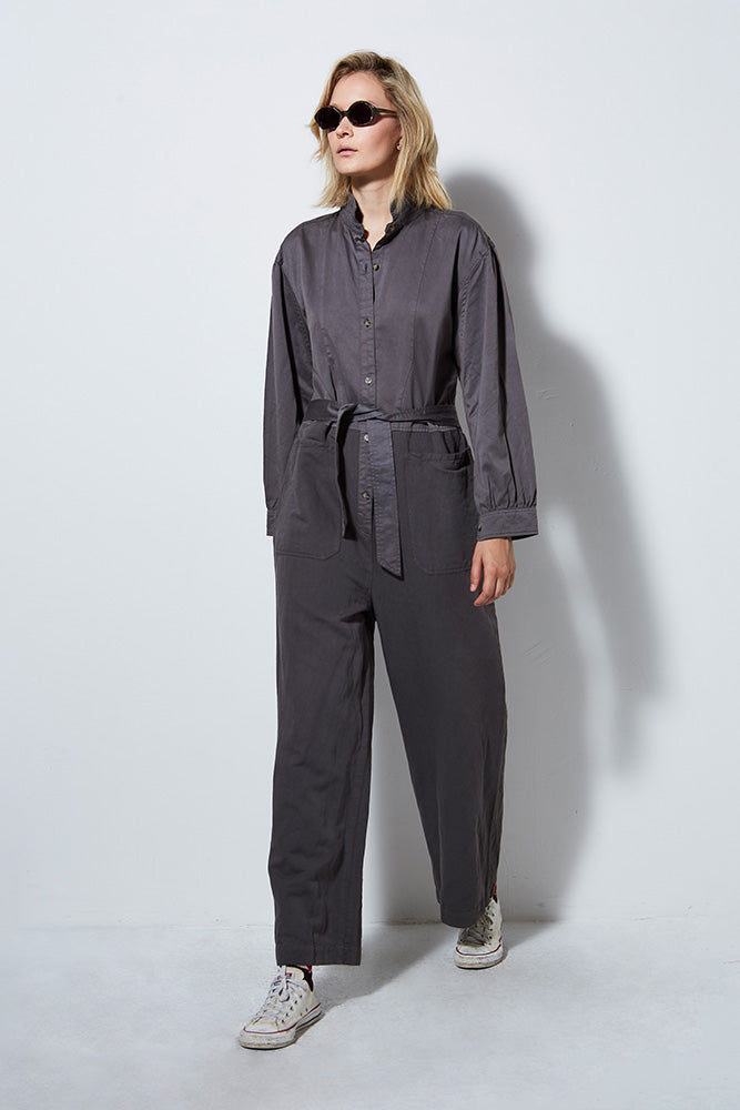 AGRAS JUMPSUIT, CEMENT
