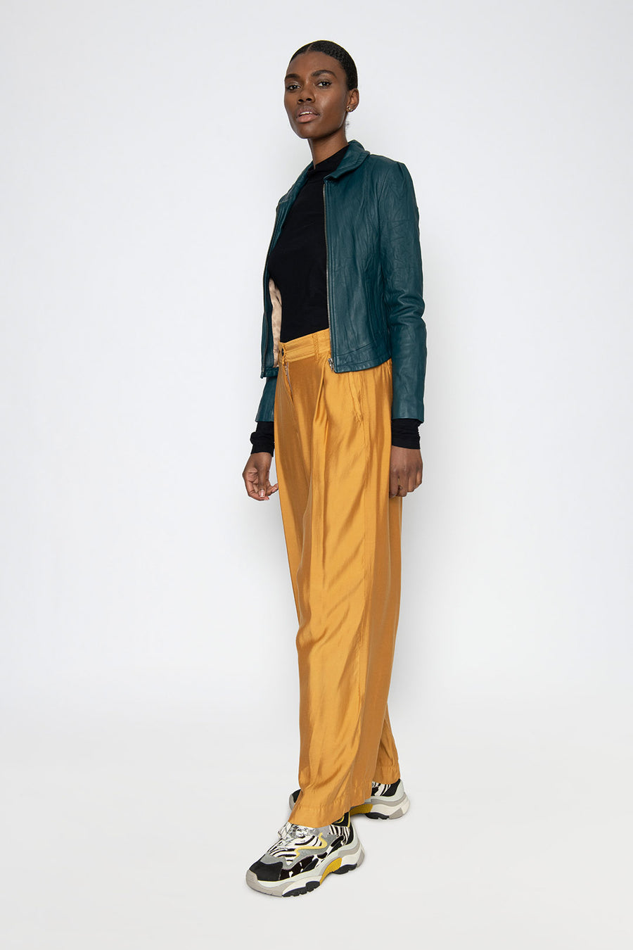 TWILIGHT WIDE LEG PANT, DARK HONEY