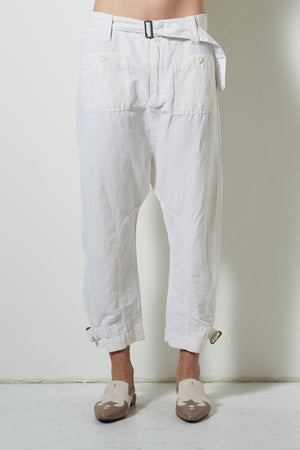 Burning Torch Explorer High waisted Linen Blend Pant with front Pleats