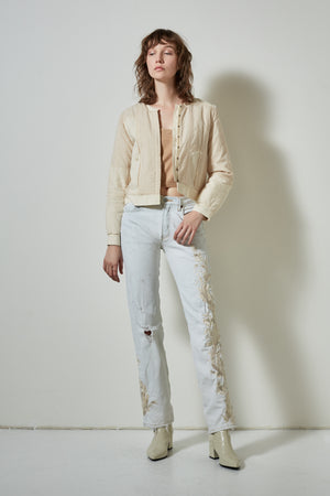 BODIE COTTON JACKET | BURNING TORCH | WOMEN'S CREME JACKET
