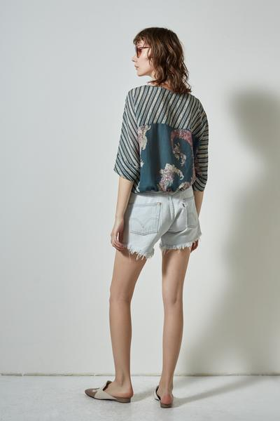 SIERRA PRINTED SILK BLOUSE