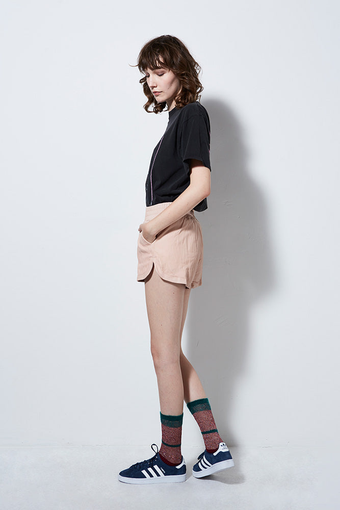 Women's Blush Leather Shorts | Burning Torch