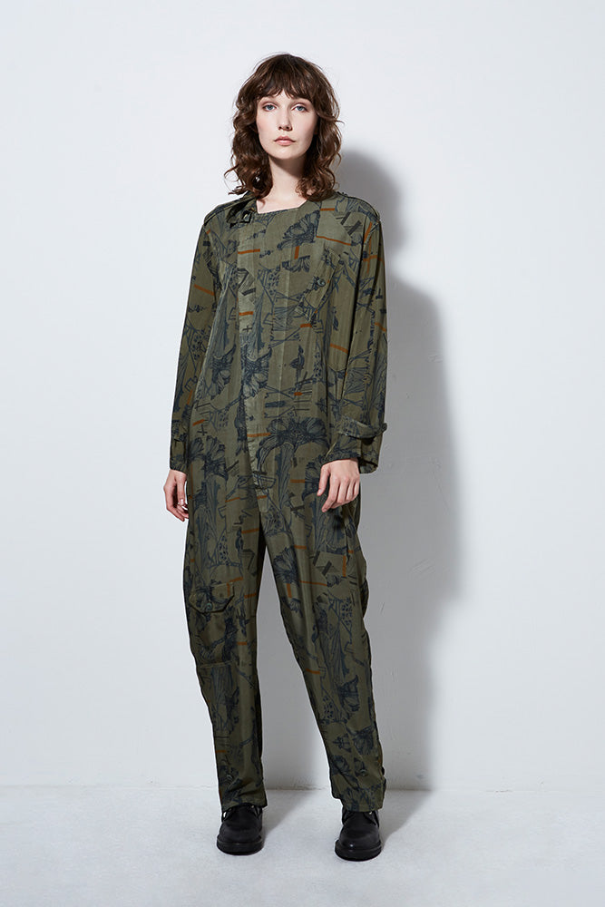 ATLANTIS PRINT JUMPSUIT, ARMY