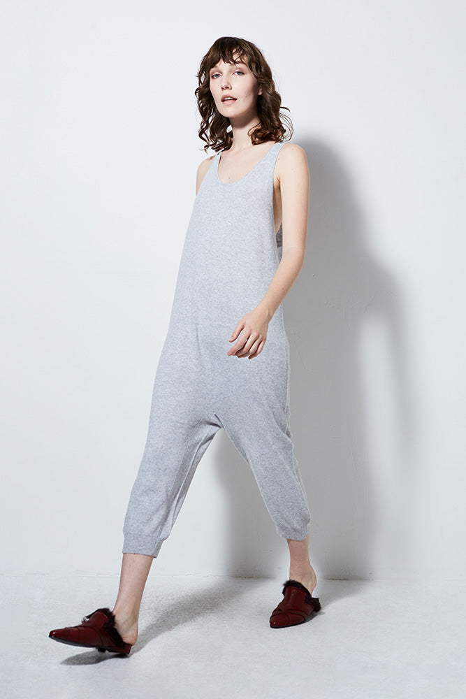Cheshire Heather Grey Cashmere Jumpsuit
