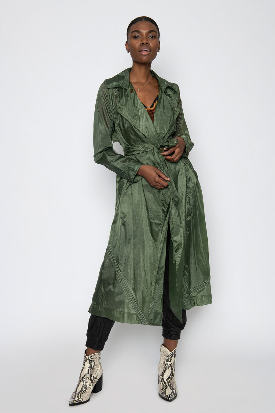 WONDERLAND UPCYCLED PARACHUTE TRENCH