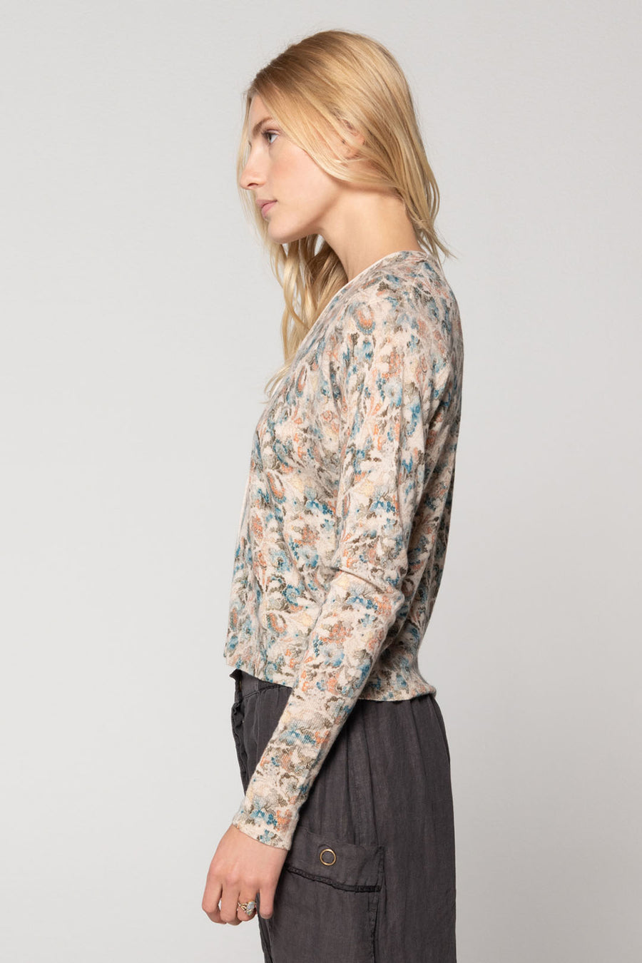 LAUREL CASHMERE CARDIGAN, BOTANICAL