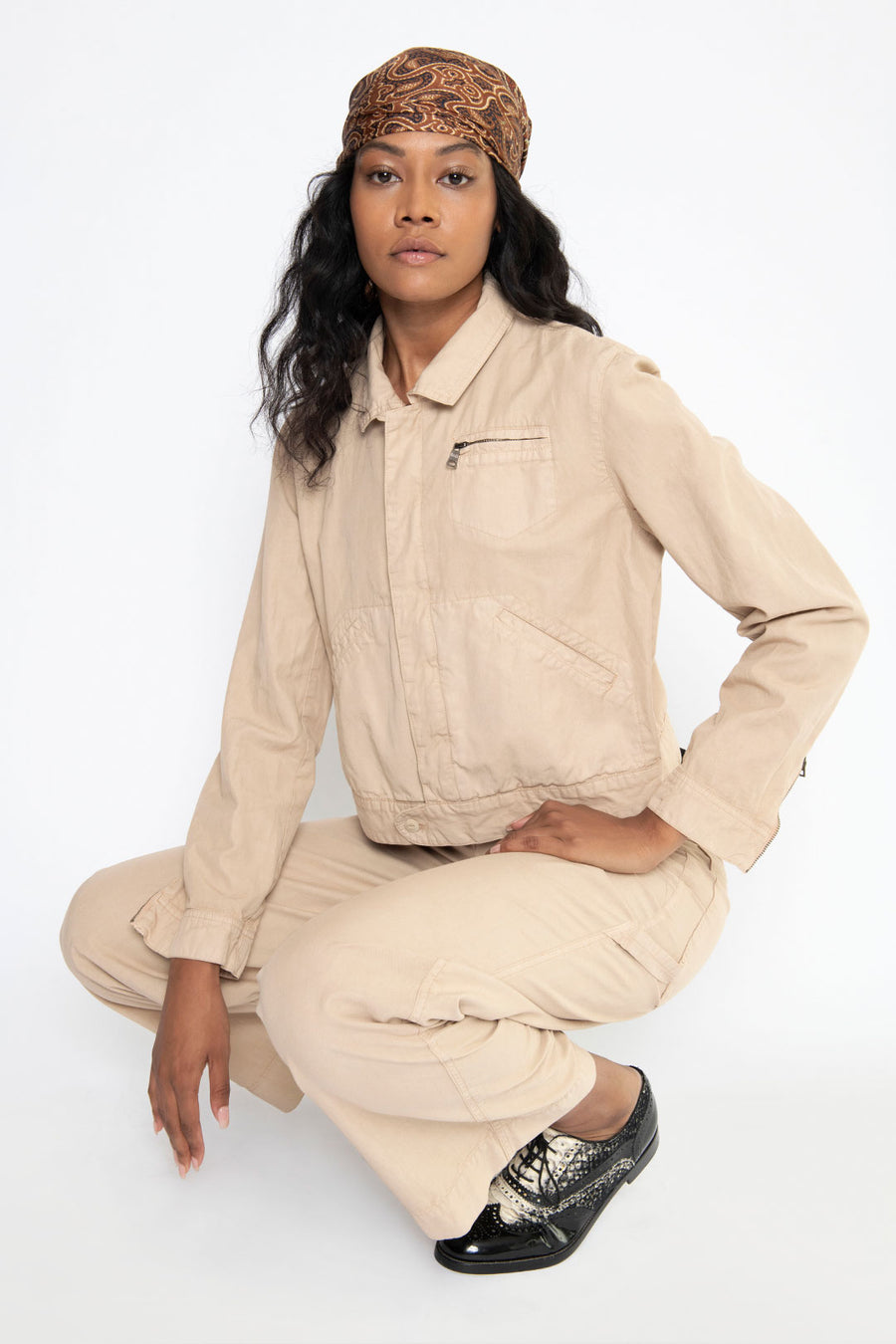 WORKWEAR JACKET, PARCHMENT