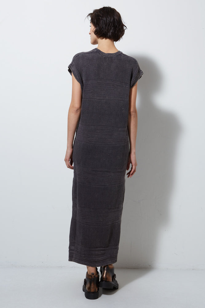 FOSTER KNIT DRESS- LICORICE