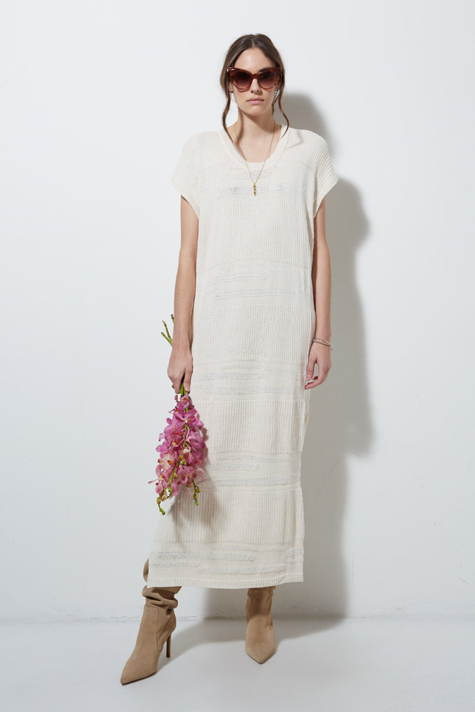 FOSTER KNIT DRESS- VANILLA