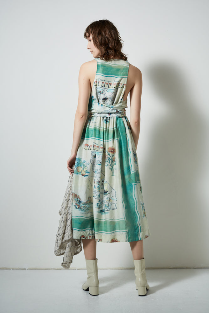 POSTCARD DRESS, EUCALYPTUS