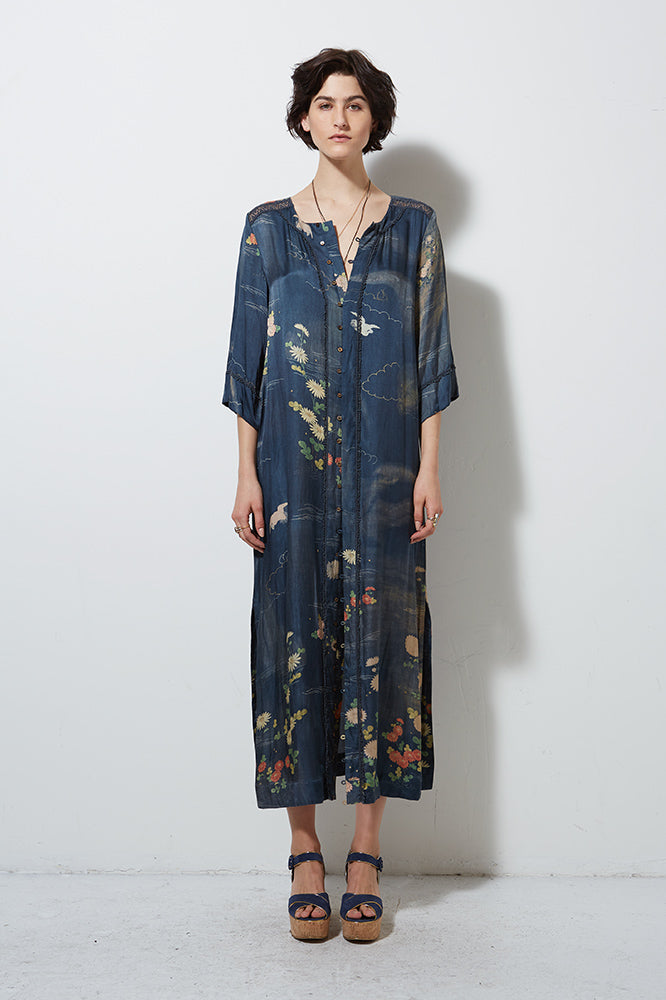FORMOSA LONG BUTTON DOWN DRESS