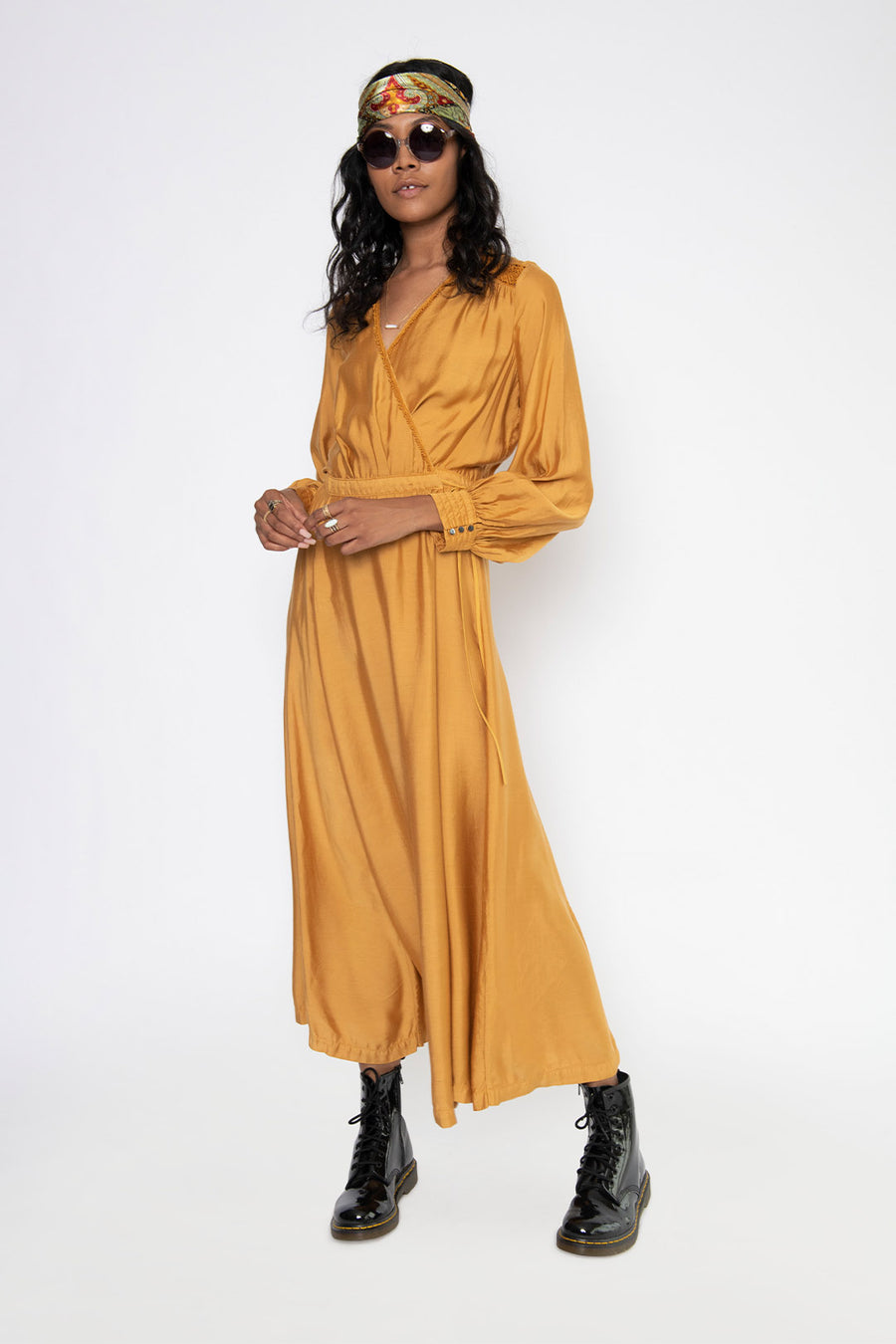 TWILIGHT MAXI DRESS, DARK HONEY