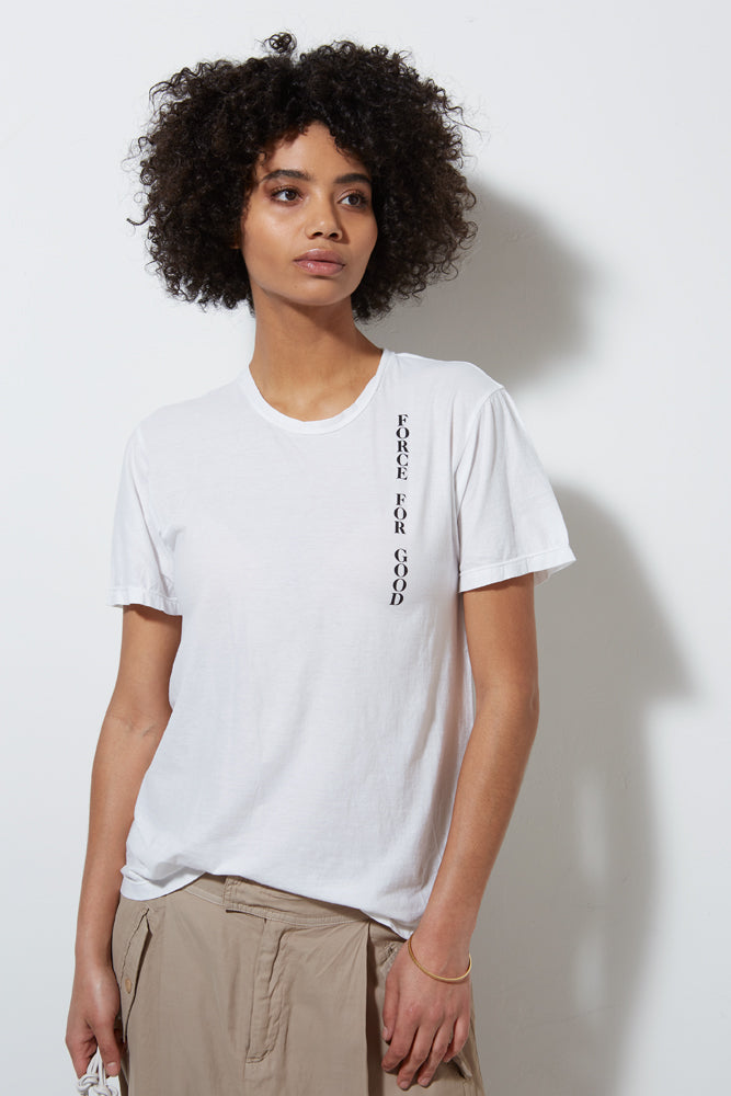FORCE FOR GOOD TEE, WHITE