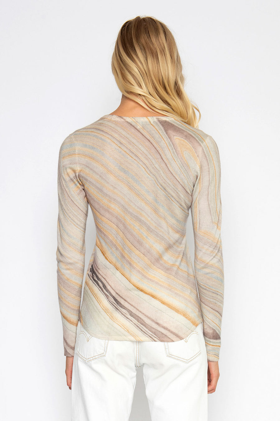 PAINTED DESERT PRINTED CASHMERE TOP