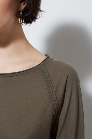PCH LONG SLEEVE TEE, ARMY