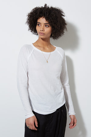 PCH LONG SLEEVE TEE, WHITE