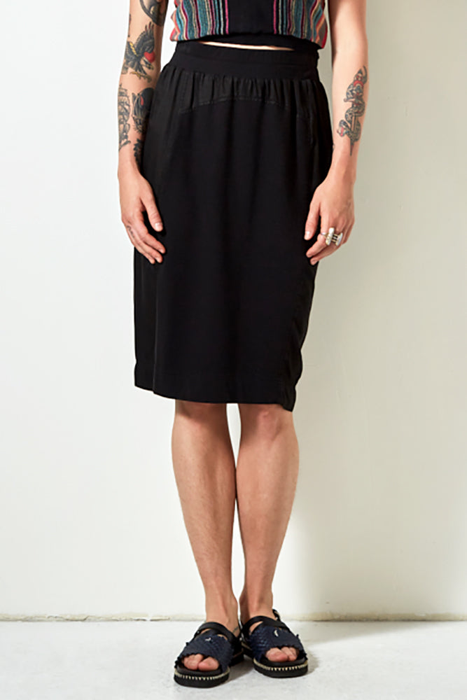 UNION SKIRT IN BLACK