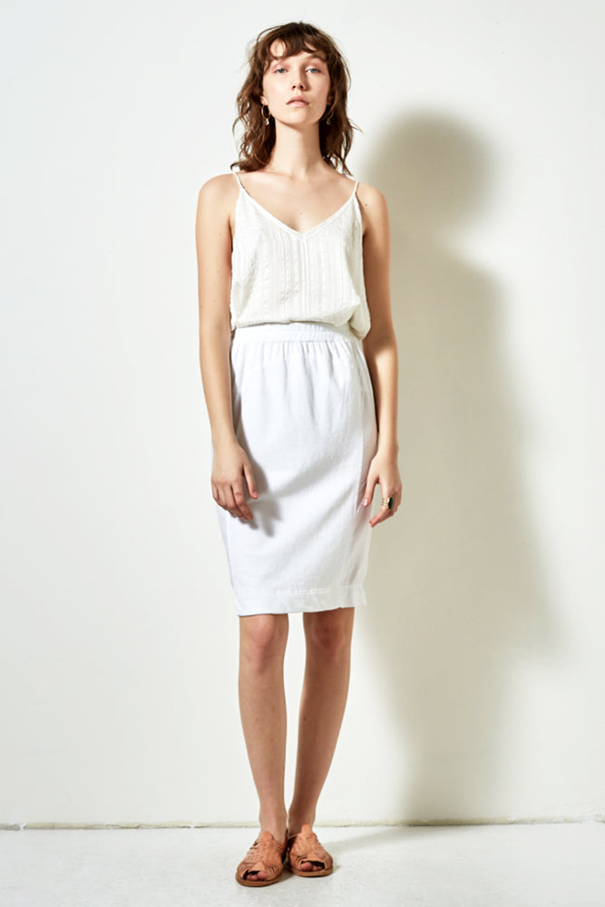 UNION SKIRT IN WHITE